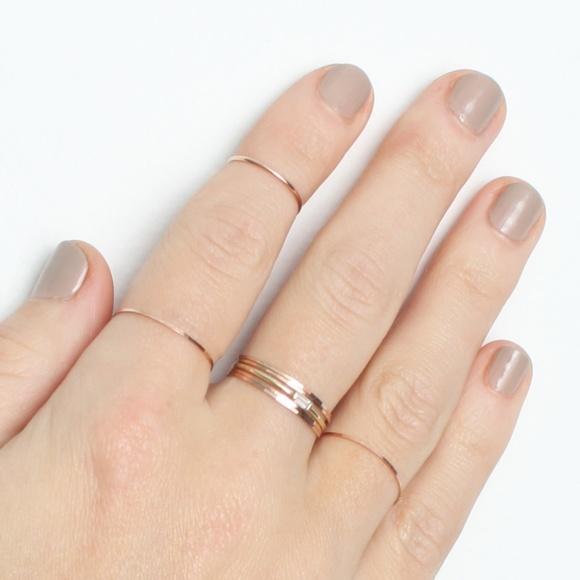11 off Catbird NYC Jewelry Rose Gold Threadbare Ring Size 7 Poshmark